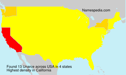 Surname Unarce in USA