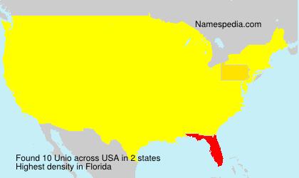 Familiennamen Unio - USA