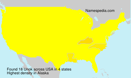 Surname Unok in USA