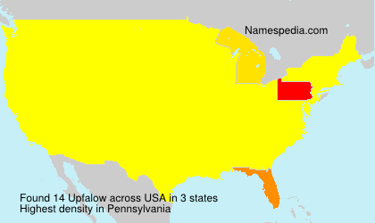 Surname Upfalow in USA