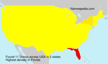 Surname Urzola in USA