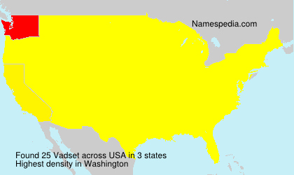 Surname Vadset in USA