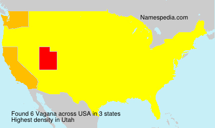 Surname Vagana in USA