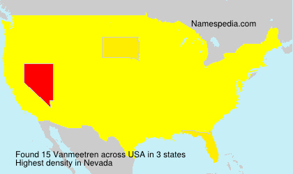 Surname Vanmeetren in USA