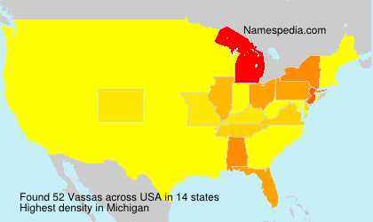 Surname Vassas in USA
