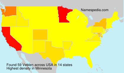 Surname Veblen in USA
