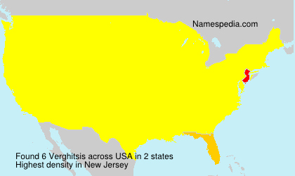 Surname Verghitsis in USA