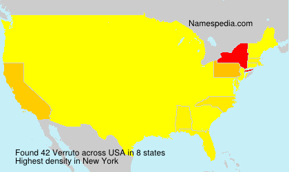 Surname Verruto in USA