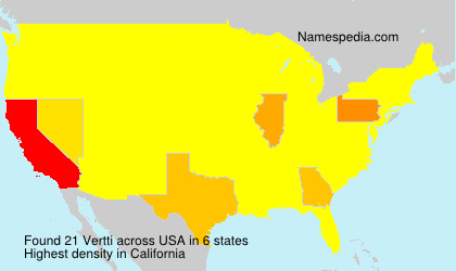 Surname Vertti in USA