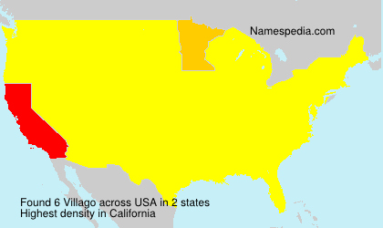 Surname Villago in USA