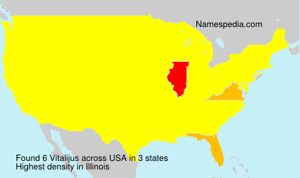 Surname Vitalijus in USA