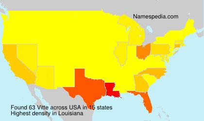 Familiennamen Vitte - USA