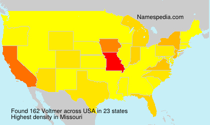 Surname Voltmer in USA