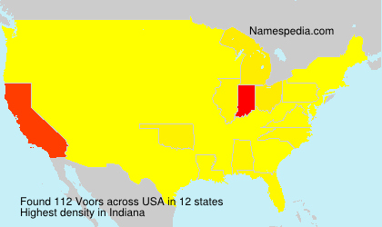 Surname Voors in USA