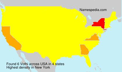 Surname Vothi in USA