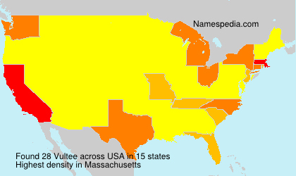 Surname Vultee in USA