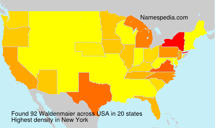 Surname Waldenmaier in USA