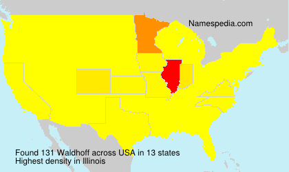 Familiennamen Waldhoff - USA