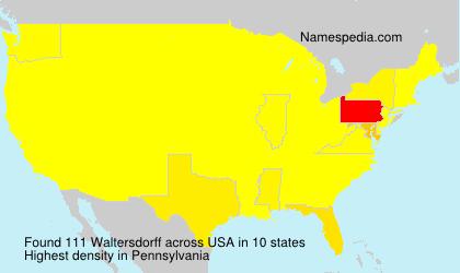 Surname Waltersdorff in USA
