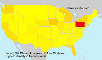 Surname Wambold in USA