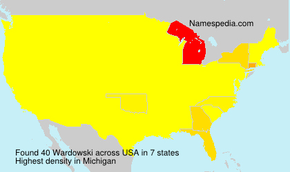 Surname Wardowski in USA