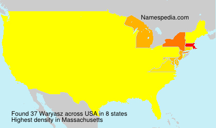 Surname Waryasz in USA