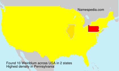 Surname Weinblum in USA