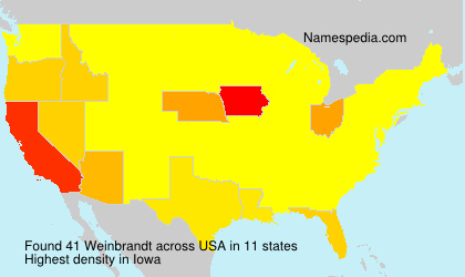 Surname Weinbrandt in USA