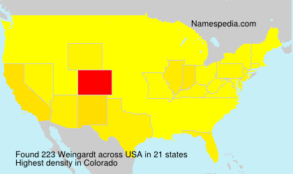 Surname Weingardt in USA
