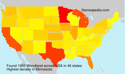 Surname Wendland in USA