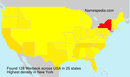 Surname Werbeck in USA