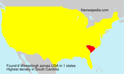 Surname Wesselingh in USA