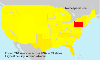 Surname Wessner in USA