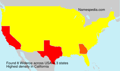 Surname Wideroe in USA