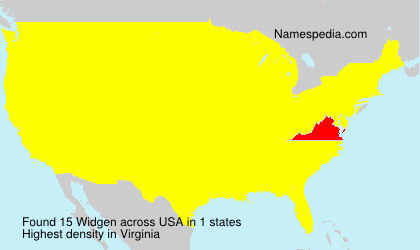 Surname Widgen in USA