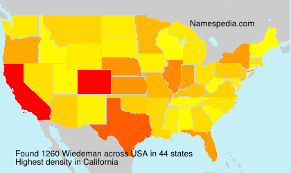 Surname Wiedeman in USA