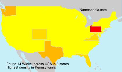 Familiennamen Wiekel - USA