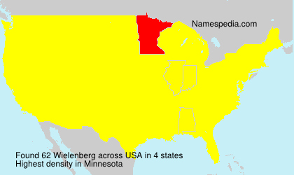 Surname Wielenberg in USA
