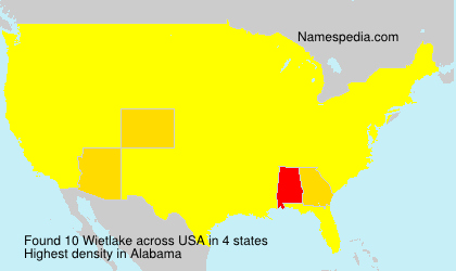 Surname Wietlake in USA