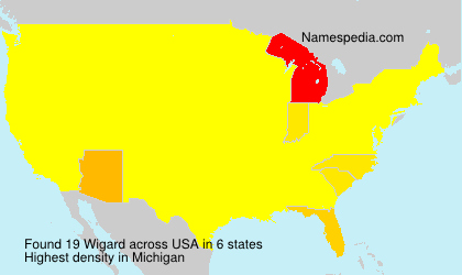 Surname Wigard in USA