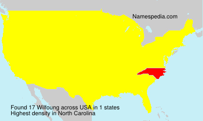 Surname Wilfoung in USA