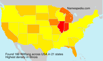 Surname Wiltfang in USA