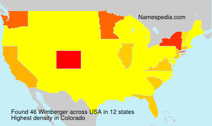 Surname Wimberger in USA