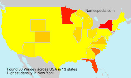 Surname Windey in USA