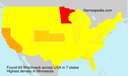 Surname Wischnack in USA