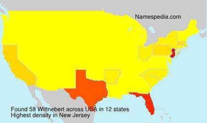 Familiennamen Wittnebert - USA