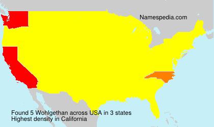 Familiennamen Wohlgethan - USA