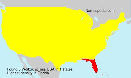 Familiennamen Woitzik - USA
