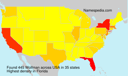 Surname Wolfman in USA