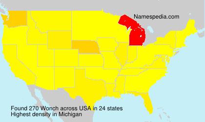 Familiennamen Wonch - USA